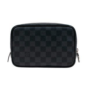 Damier Graphite Toiletry Bag Pouch